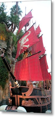 Pirate Ship Metal Print by Alan Espasandin