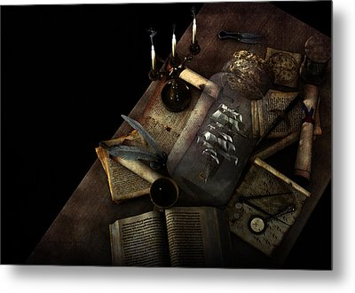Pirate Table Metal Print by Donna Harriman