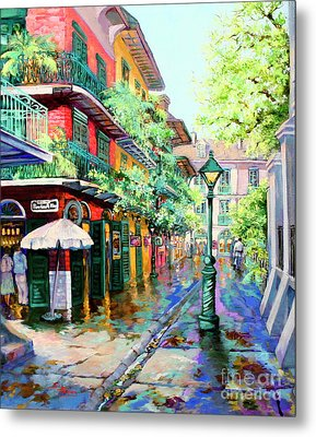 Pirates Alley - French Quarter Alley Metal Print by Dianne Parks