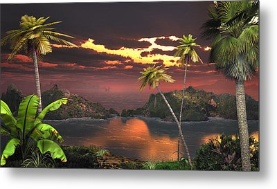 Pirate's Cove Metal Print by Mary Almond