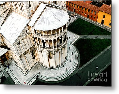 Pisa From Above Metal Print by Linda  Parker