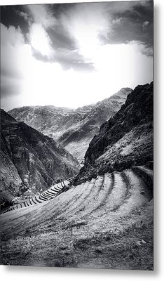 Pisac Fields Metal Print