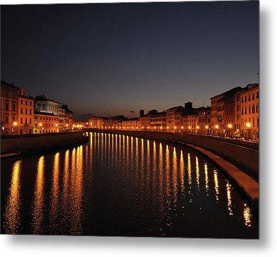 Pisa's Arno Metal Print