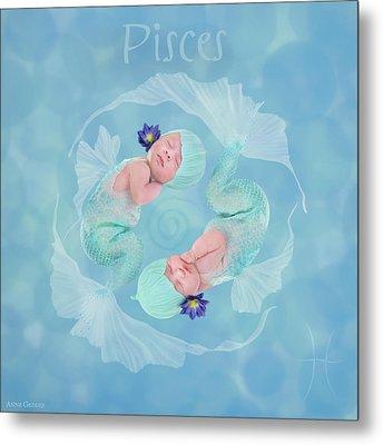 Pisces Metal Print by Anne Geddes