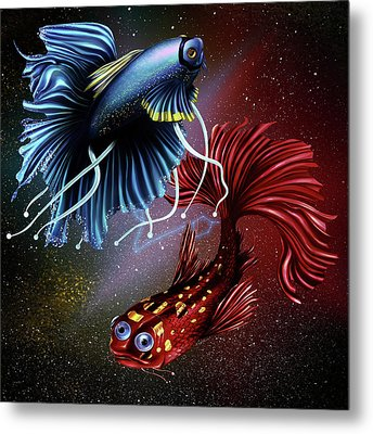 Pisces Dance Metal Print by Kenal Louis