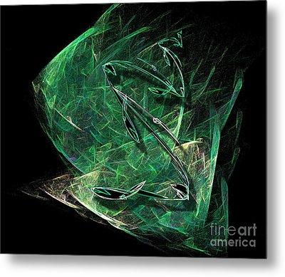 Pisces Metal Print by Viktor Savchenko
