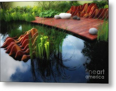 Pitcher Plant Garden 2 Metal Print by Mike Nellums