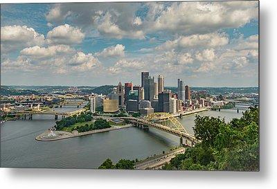 Pittsburg Skyline Metal Print by Guy Whiteley