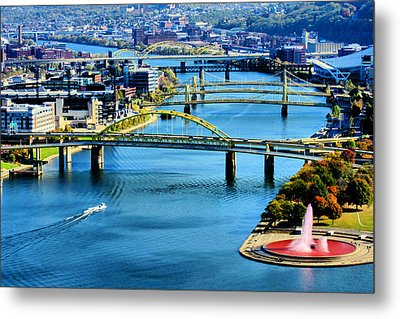 Pittsburgh At The Point Metal Print
