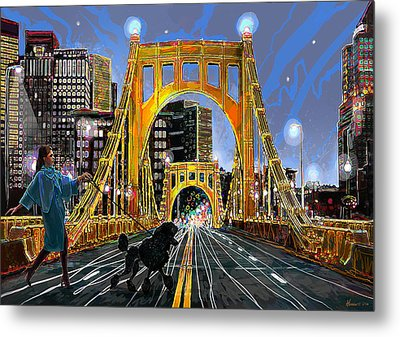 Pittsburgh Chic Metal Print by Frank Harris