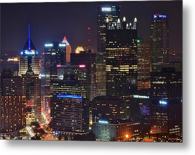 Pittsburgh Close Up From Above Metal Print by Frozen in Time Fine Art Photography