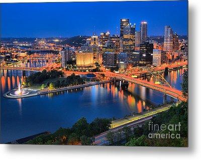 Pittsburgh Evening Glow Metal Print