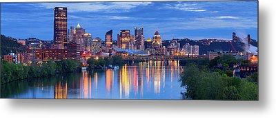Pittsburgh Pano 13 Metal Print by Emmanuel Panagiotakis