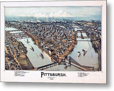 Pittsburgh Pennsylvania 1902 Metal Print