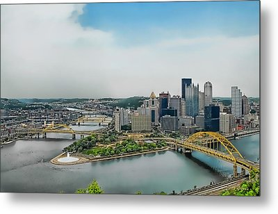 Pittsburgh Skyline Metal Print by Dyle   Warren
