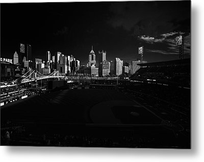 Pittsburgh Skyline Pnc Park Pirates Metal Print