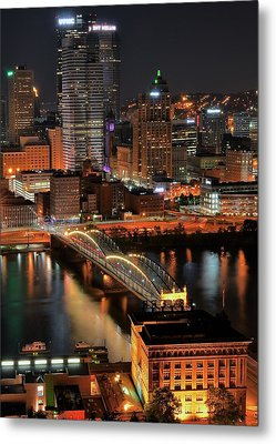 Pittsburgh Standing Tall Metal Print