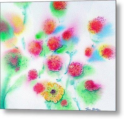 Pixie Flowers Metal Print by Tina Storey