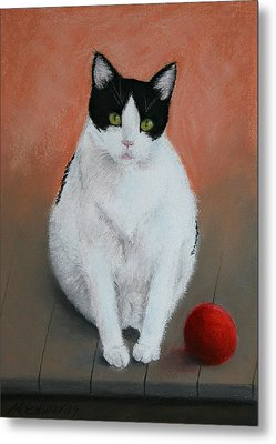 Pj And The Ball Metal Print by Marna Edwards Flavell