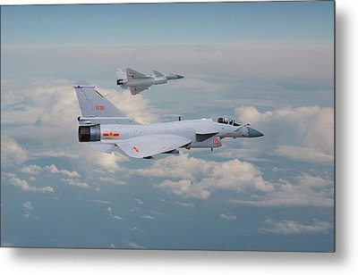 Metal Print featuring the photograph Plaaf J10 - Vigorous Dragon by Pat Speirs