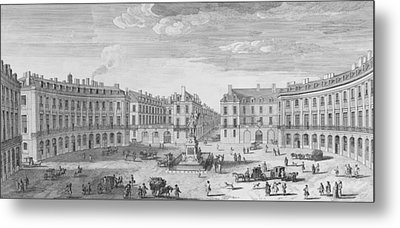 Place Des Victoires Metal Print by Jacques Rigaud