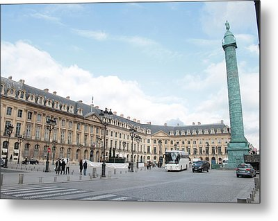 Metal Print featuring the photograph Place Vendome by Christopher Kirby