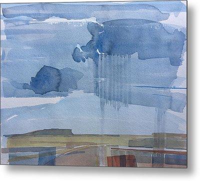 Plain Rain Metal Print by Vaughan Davies