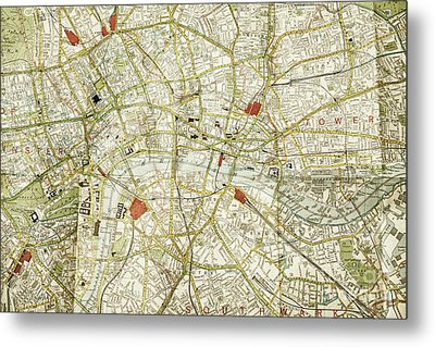 Metal Print featuring the photograph Plan Of Central London by Patricia Hofmeester