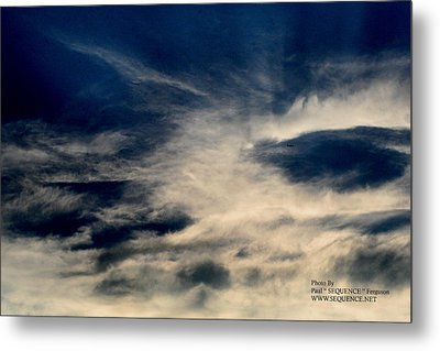 Metal Print featuring the photograph Plane In The Sky by Paul SEQUENCE Ferguson             sequence dot net