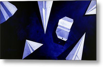 Planes On Blue Metal Print