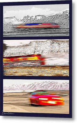Planes Trains Automobiles Triptych - Signed Limited Edition Metal Print by Steve Ohlsen