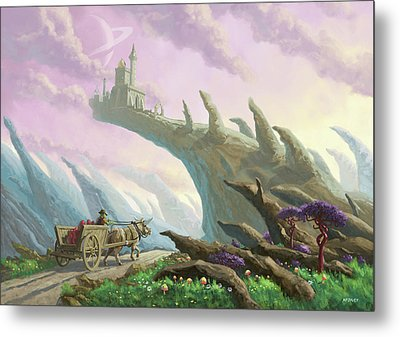 Planet Castle On Arch Metal Print by Martin Davey