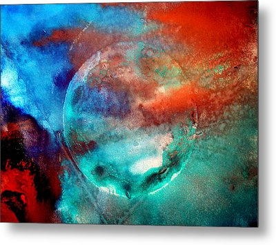 Planet In Galaxy Andromeda Metal Print by Sumit Mehndiratta