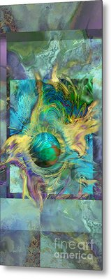 Planetary Collision 2 Metal Print by Ursula Freer
