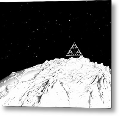 Planetary Mountain Metal Print by GuoJun Pan