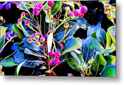 Plant 14 In Abstract Metal Print
