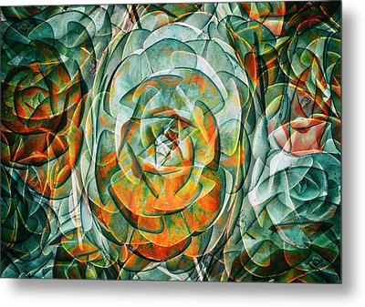 Metal Print featuring the photograph Plant Abstract by Wayne Sherriff