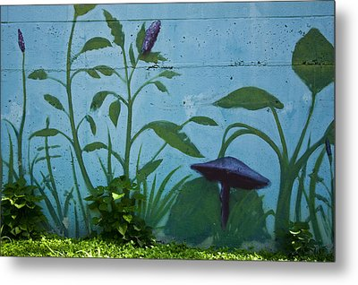 Plant Mural With Live Plants Metal Print by Mark Weaver