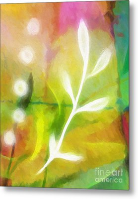 Plant Of Light Metal Print by Lutz Baar