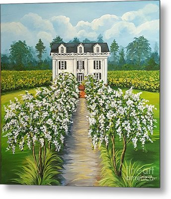 Plantation Home Metal Print by Sandra Lett