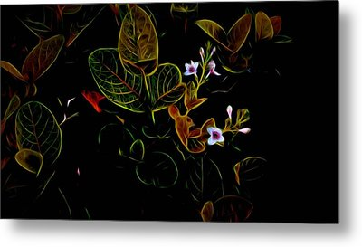 Plants In Abstract 19 Metal Print