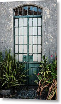 Metal Print featuring the photograph Plants In The Doorway by Marco Oliveira
