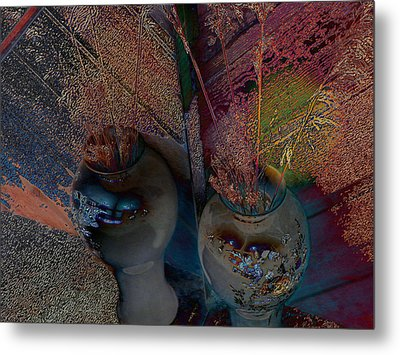 Plants In The Mirror Metal Print
