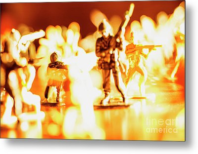 Metal Print featuring the photograph Plastic Army Men 1 by Micah May