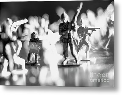 Metal Print featuring the photograph Plastic Army Men 2 by Micah May