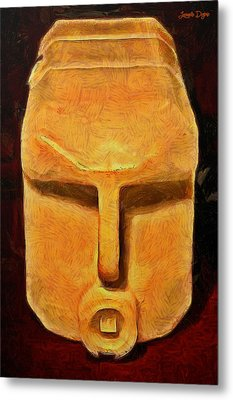 Plastic Bottle - Da Metal Print by Leonardo Digenio