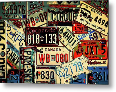 Plates Galore Metal Print