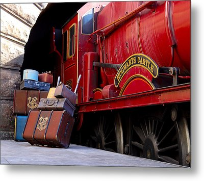 Platform Nine And Three Quarters Metal Print by Julia Wilcox