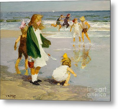 Play In The Surf Metal Print