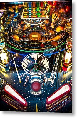 Play Pinball Metal Print by Colleen Kammerer